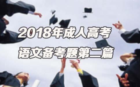 2018年成人高考语文备考题第二篇