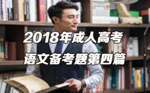 2018年成人高考语文备考题第四篇