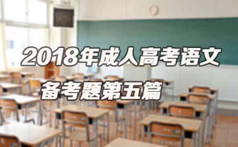 2018年成人高考语文备考题第五篇