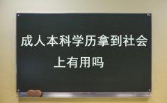 广东成人本科的学历拿到社会上有用吗?