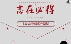 2017年广东成人高考录取分数线公布了