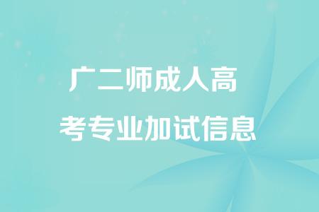 广东第二师范学院成人高考专业加试信息