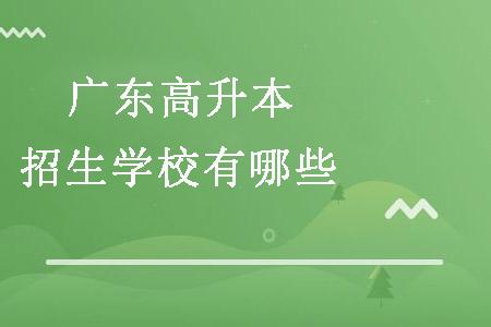 广东成考高升本招生学校有哪些