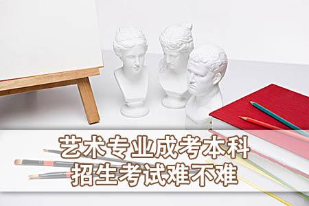 艺术专业成考本科招生考试难不难