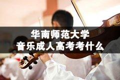 华南师范大学音乐成人高考考什么