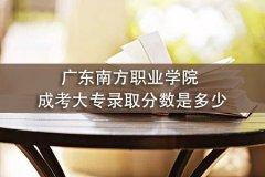 广东南方职业学院成考大专录取分数是多少