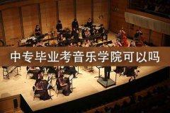 中专毕业考音乐学院可以吗