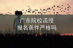 广东院校函授报名条件严格吗