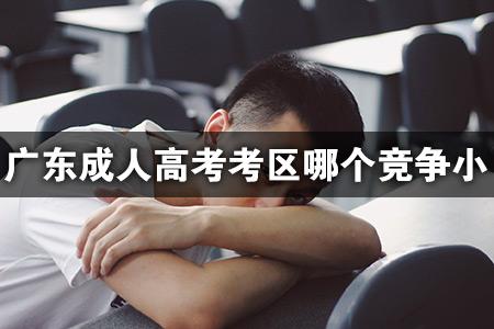 广东成人高考考区哪个竞争小