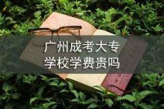 广州成考大专学校学费贵吗