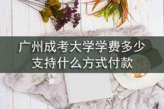 广州成考大学学费多少,支持什么方式付款