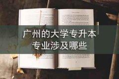广州的大学专升本专业涉及哪些