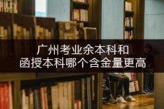 广州考业余本科和函授本科哪个含金量更高