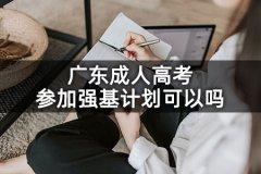 广东成人高考参加强基计划可以吗