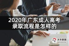 2020年广东成人高考录取流程是怎样的