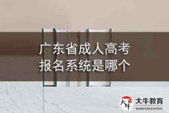 广东省成人高考报名系统是哪个,要注意什么