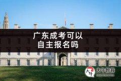 广东成考可以自主报名吗
