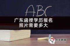 广东函授学历报名照片需要多大
