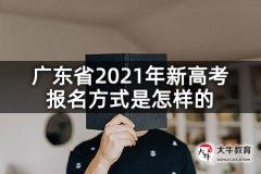 广东省2021年新高考报名方式是怎样的