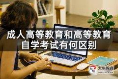 成人高等教育和高等教育自学考试有何区别
