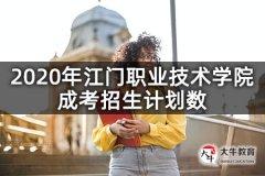 2020年江门职业技术学院成考招生计划数
