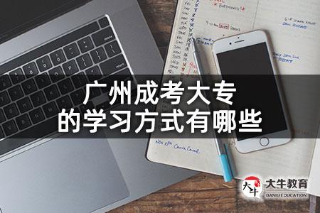 广州成考大专的学习方式有哪些