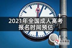 2021年全国成人高考报名时间预估