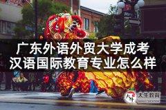 广东外语外贸大学成考汉语国际教育专业怎么样