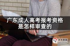 广东成人高考报考资格是怎样审查的