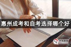 惠州成考和自考选择哪个好