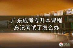 广东成考专升本课程忘记考试了怎么办