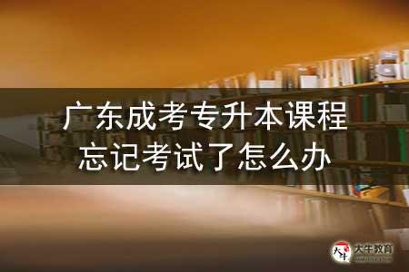 广东成考专升本课程忘记考试了怎么办-第1张图片-专升本网