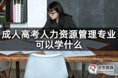 成人高考人力资源管理专业可以学什么