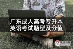 广东成人高考专升本英语考试题型及分值