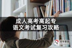 成人高考高起专语文考试复习攻略