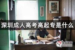 深圳成人高考高起专是什么