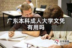 广东本科成人大学文凭有用吗