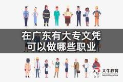 在广东有大专文凭可以做哪些职业