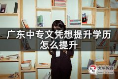 广东中专文凭想提升学历怎么提升