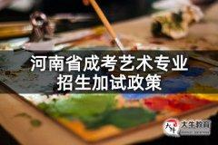 河南省成考艺术专业招生加试政策