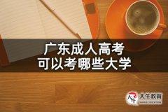 广东成人高考可以考哪些大学