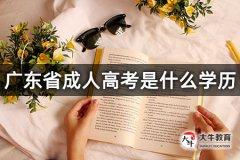 广东省成人高考是什么学历