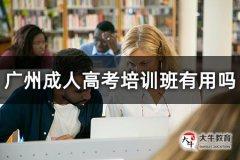 广州成人高考培训班有用吗