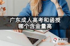 广东成人高考和函授哪个含金量高
