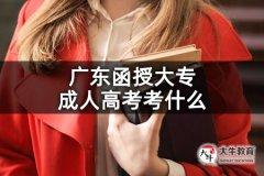 广东函授大专成人高考考什么