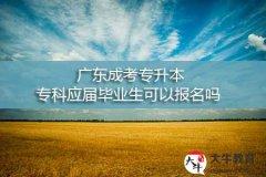 广东成考专升本,专科应届毕业生可以报名吗