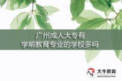 广州成人大专有学前教育专业的学校多吗