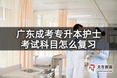 广东成考专升本护士考试科目怎么复习