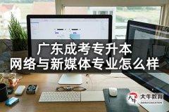 广东成考专升本网络与新媒体专业怎么样