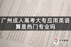 广州成人高考大专应用英语算是热门专业吗